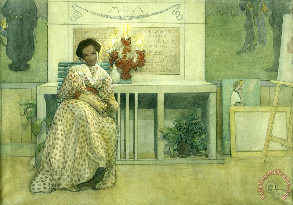 After The Prom painting - Carl Larsson After The Prom Art Print