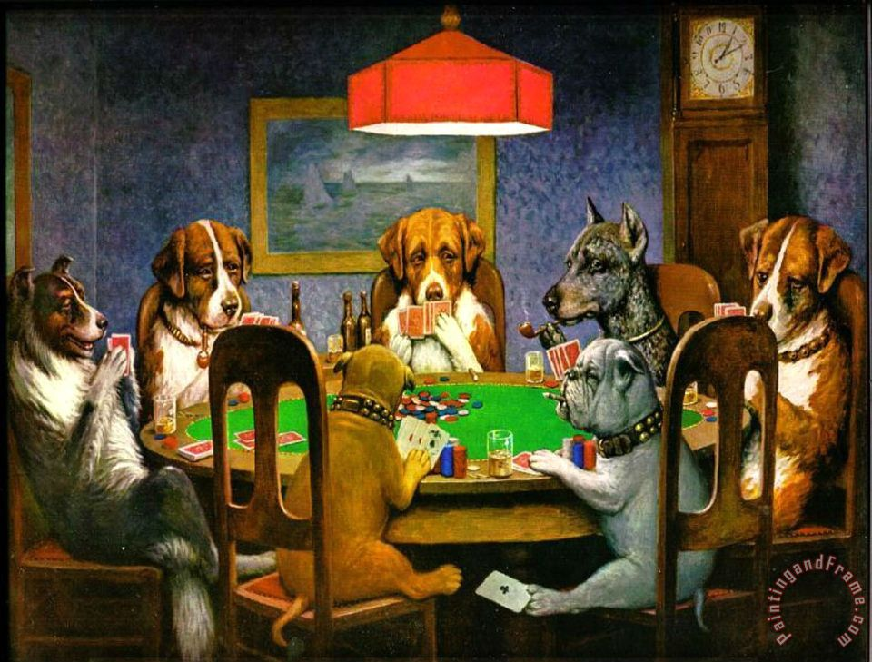 cassius marcellus coolidge A Friend in Need Dogs Playing Poker Art Print