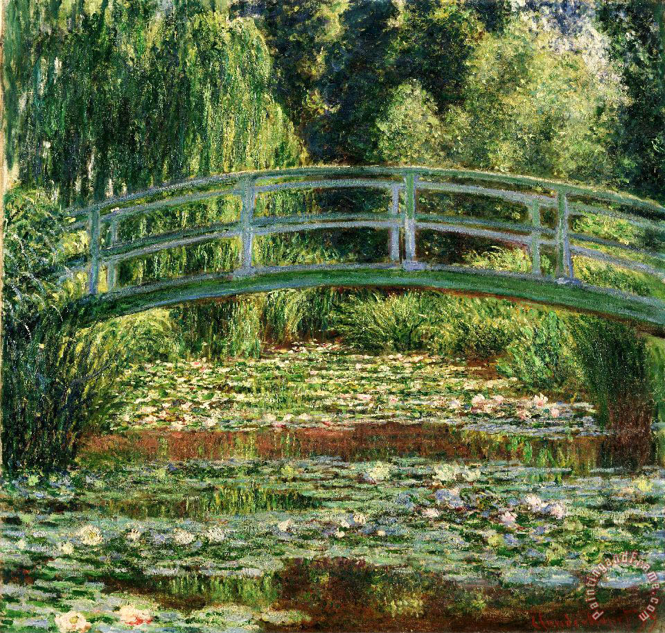 Claude Monet The Japanese Footbridge And The Water Lily Pool, Giverny Art Painting