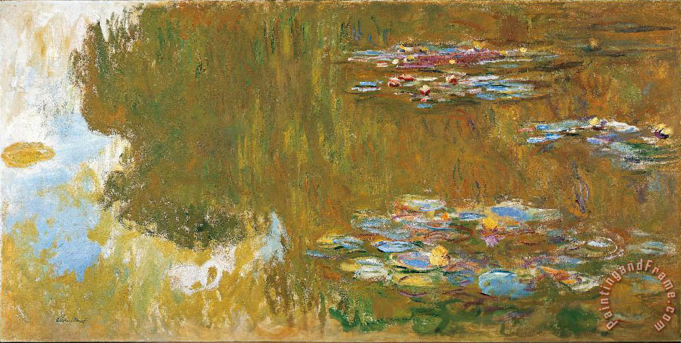 Claude Monet The Water Lily Pond painting - The Water Lily ...