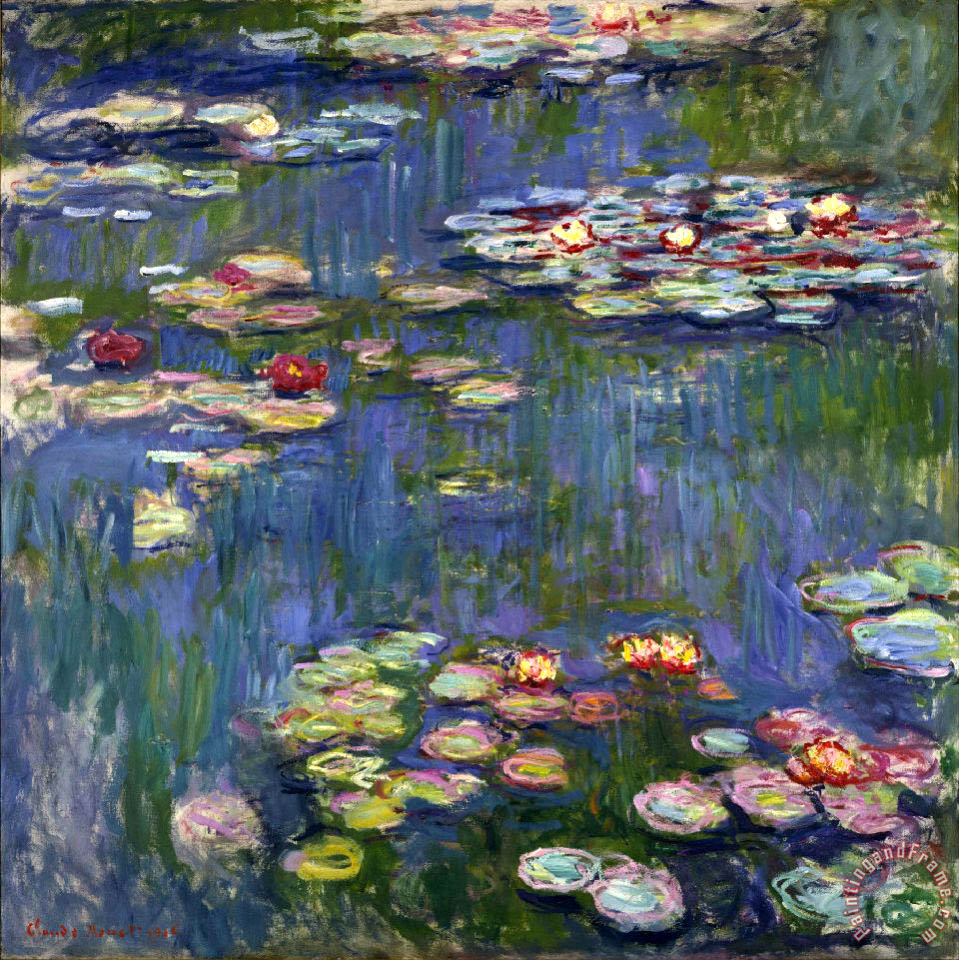 Water Lilies I painting - Claude Monet Water Lilies I Art Print
