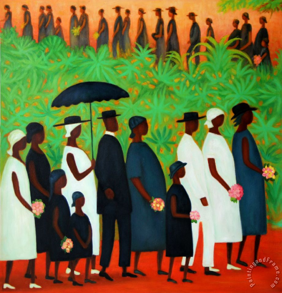 Funeral Procession painting - Ellis Wilson Funeral Procession Art Print