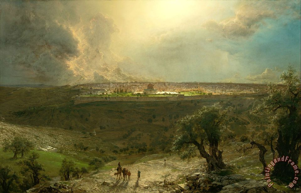 Jerusalem From The Mount of Olives painting - Frederic Edwin Church Jerusalem From The Mount of Olives Art Print