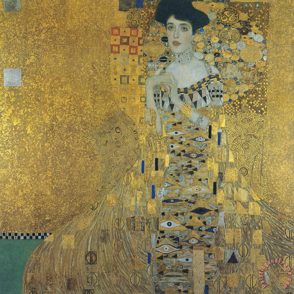 portrait of adele bloch-bauer painting - Gustav Klimt portrait of adele bloch-bauer Art Print