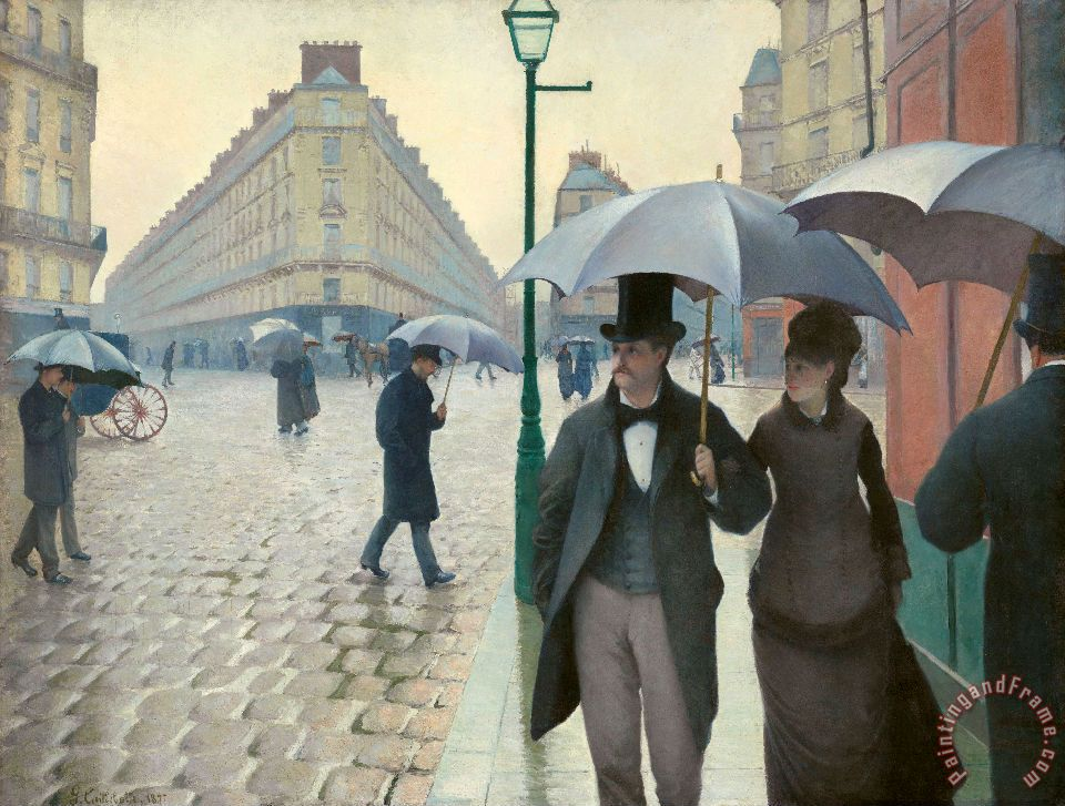 Paris Street Rainy Day painting - Gustave Caillebotte Paris Street Rainy Day Art Print