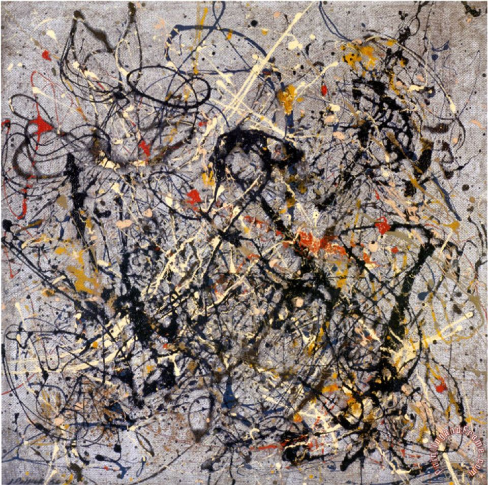 Number 18 1950 painting - Jackson Pollock Number 18 1950 Art Print