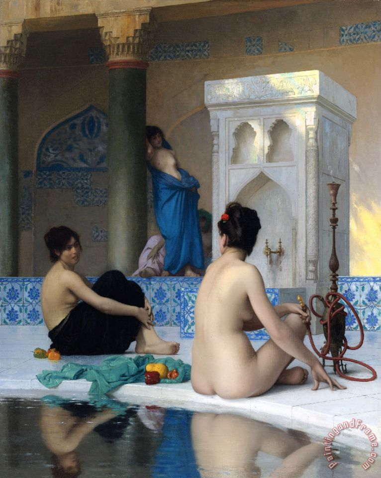 After The Bath painting - Jean Leon Gerome After The Bath Art Print