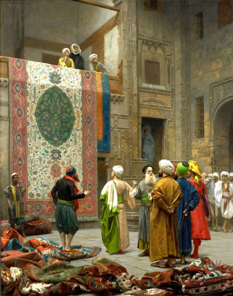 Jean Leon Gerome The Carpet Merchant Carpet Merchant in Cairo Art Print