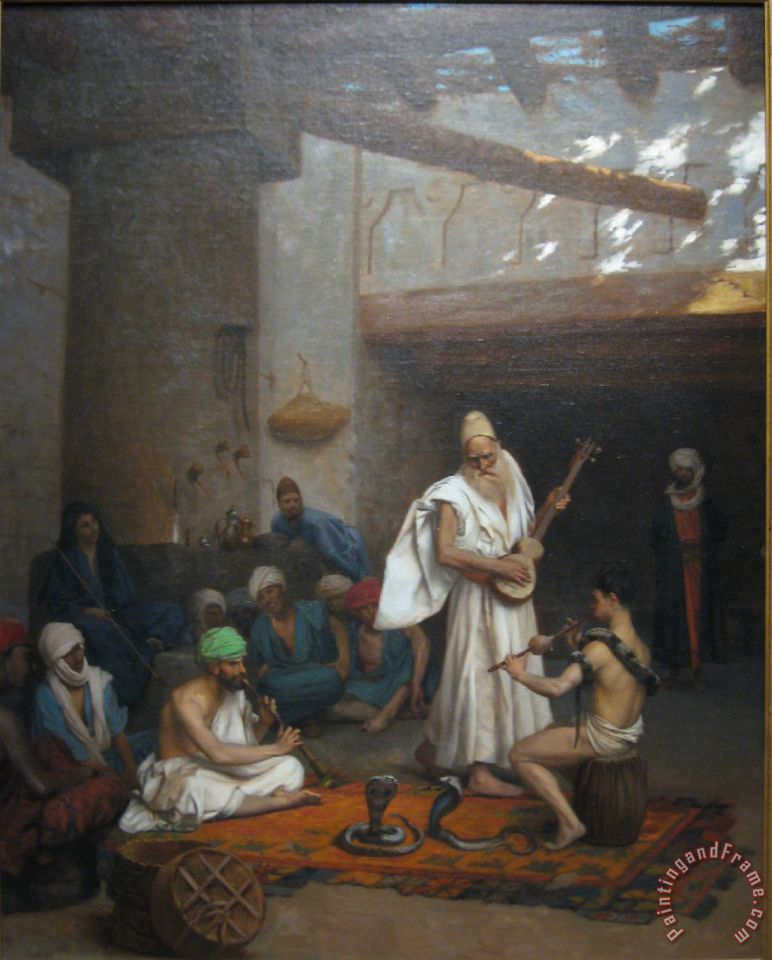 The Snake Charmer painting - Jean Leon Gerome The Snake Charmer Art Print