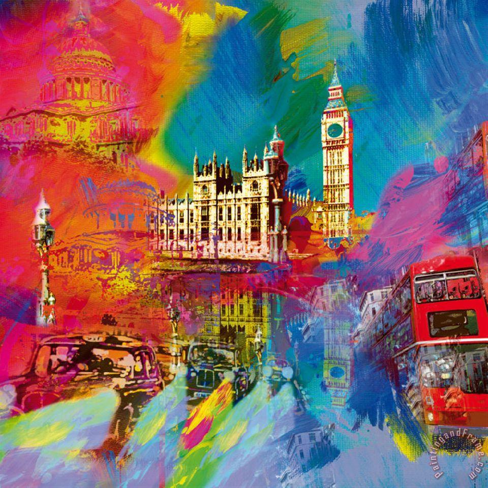 Robert Holzach London Painting London Print For Sale
