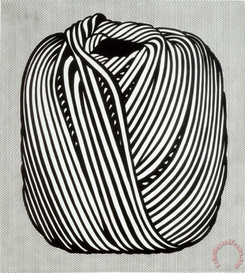 Roy Lichtenstein Ball of Twine 1963 Art Print