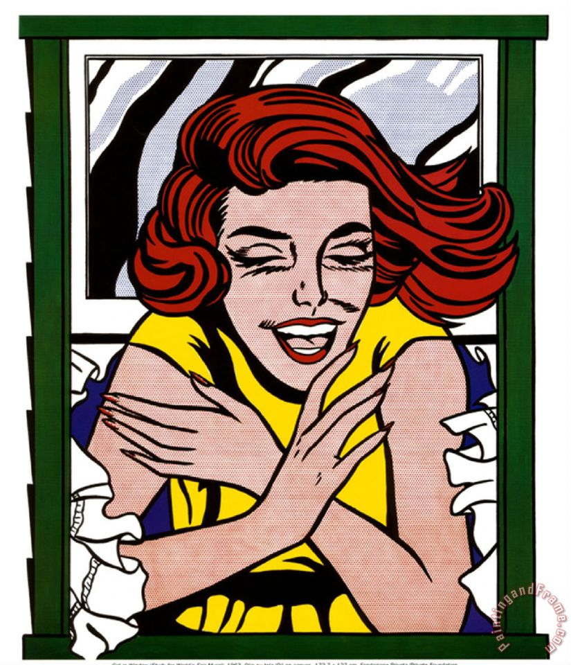 Girl in Window painting - Roy Lichtenstein Girl in Window Art Print