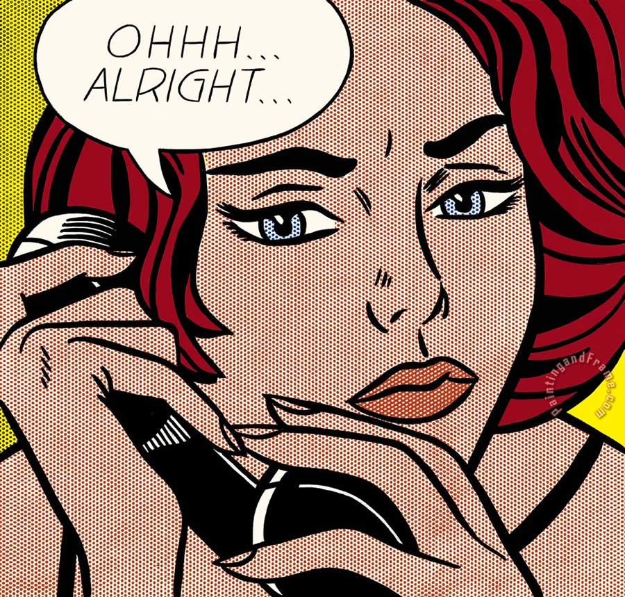 Ohhh Alright 1964 painting - Roy Lichtenstein Ohhh Alright 1964 Art Print
