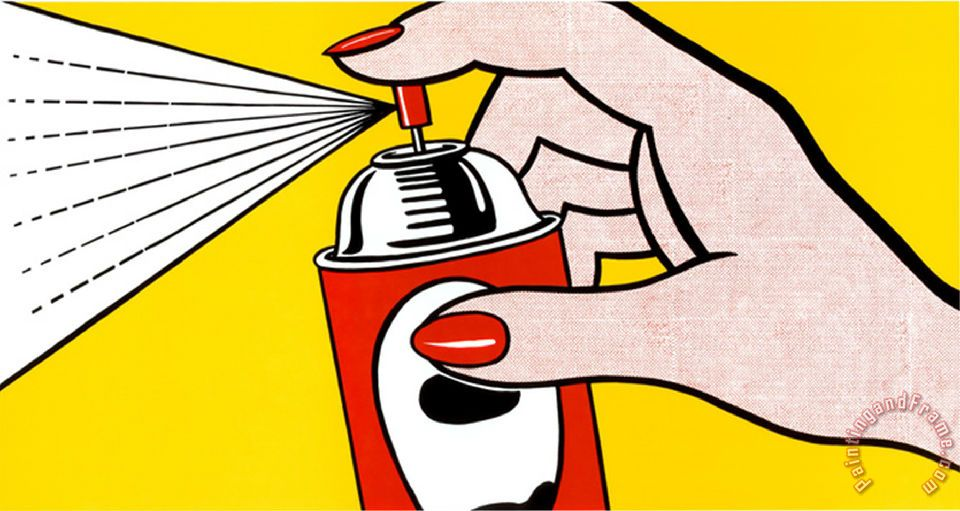 Roy Lichtenstein Spray 1962 Art Print For Sale