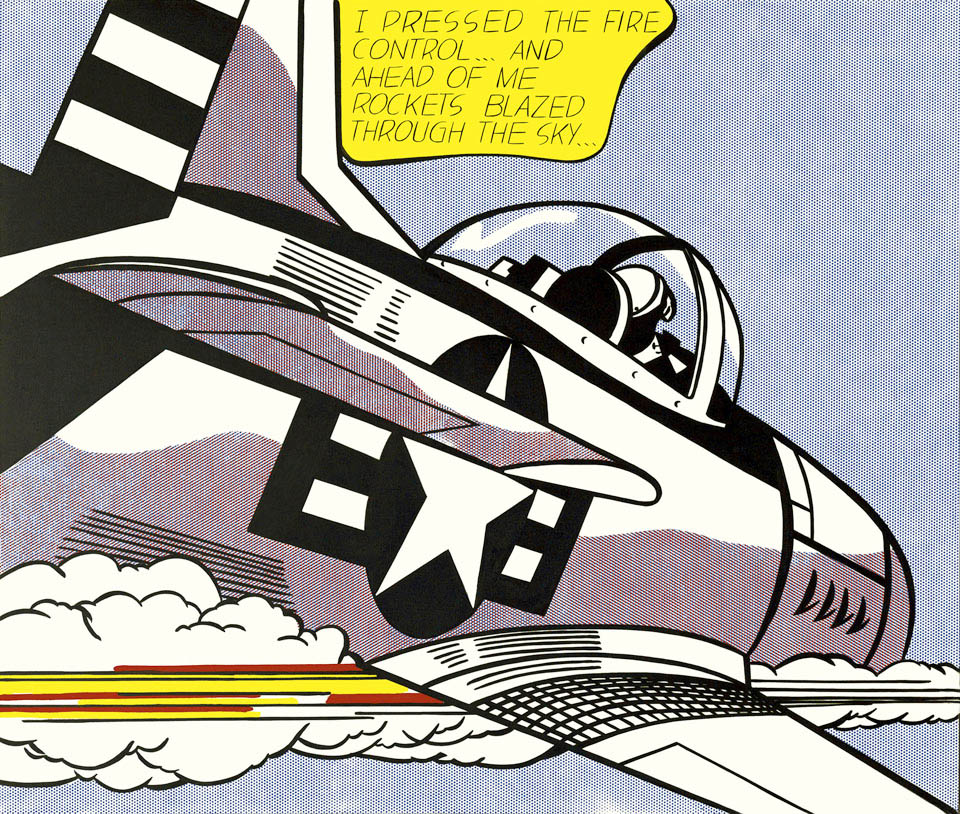 Roy Lichtenstein Whaam Panel 1 of 2 Art Print