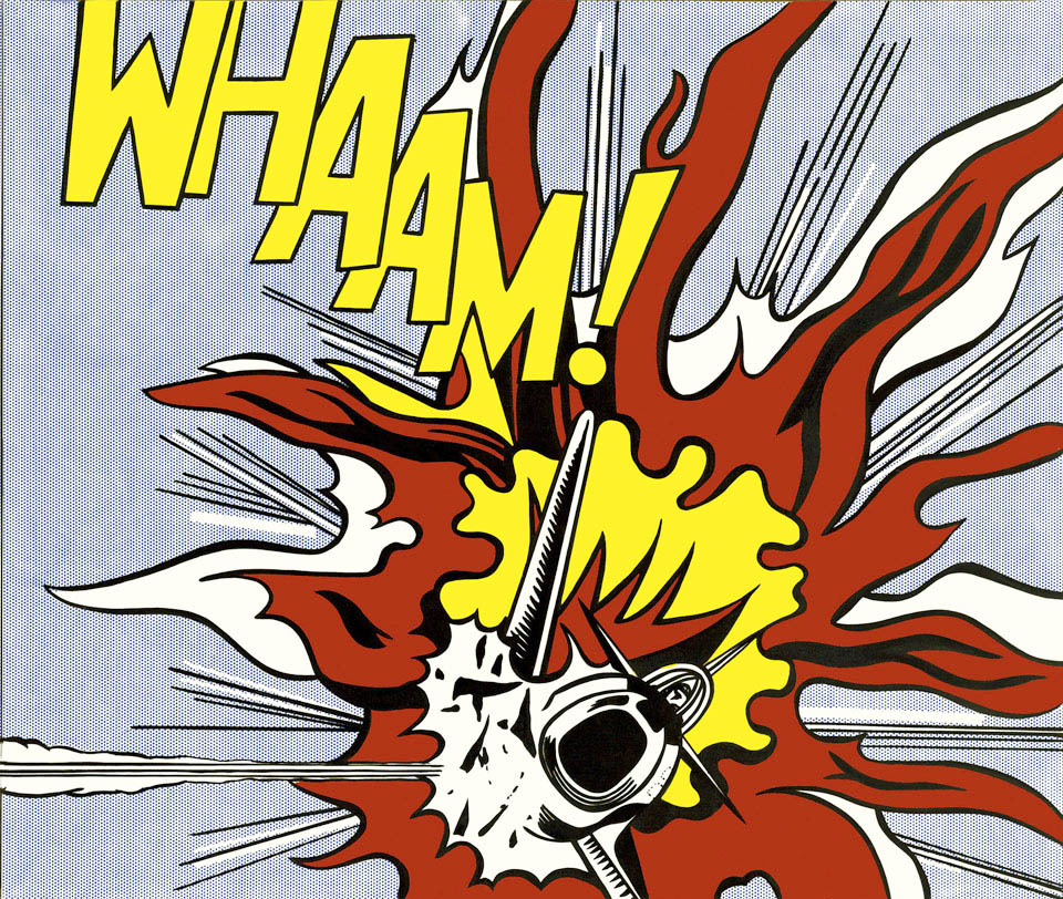 Whaam Panel 2 of 2 painting - Roy Lichtenstein Whaam Panel 2 of 2 Art Print
