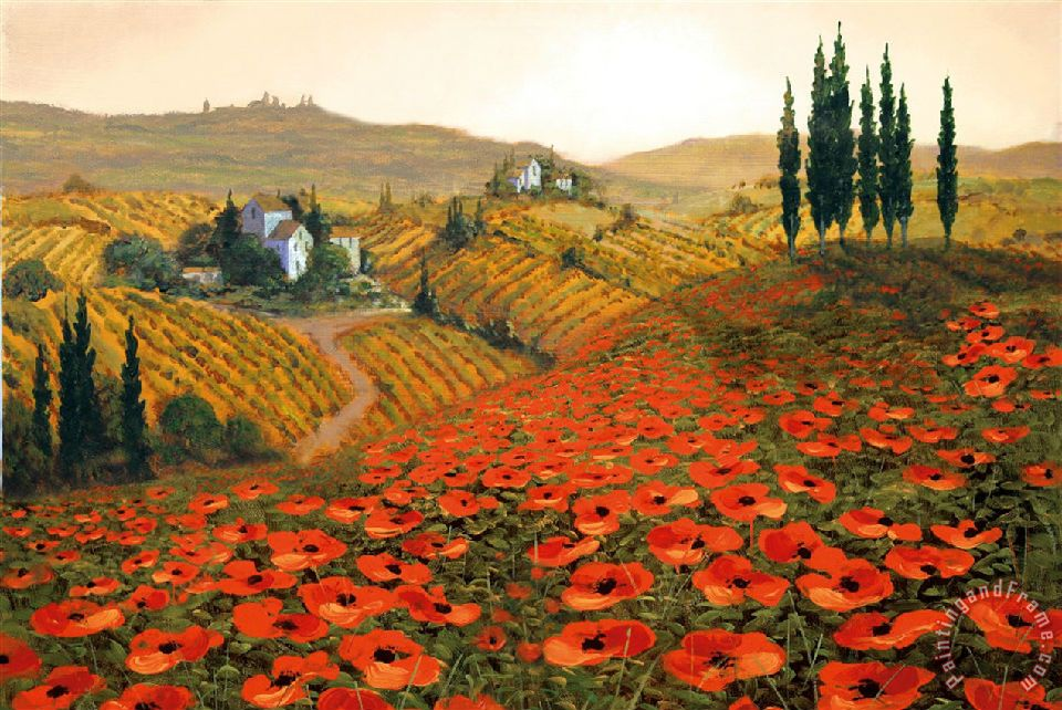 Steve Wynne Hills of Tuscany II Art Painting