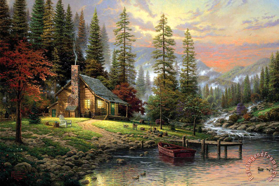 Thomas Kinkade A Peaceful Retreat Art Print