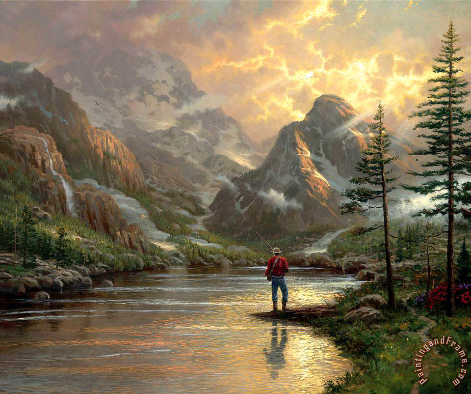 Thomas Kinkade Almost Heaven Art Print