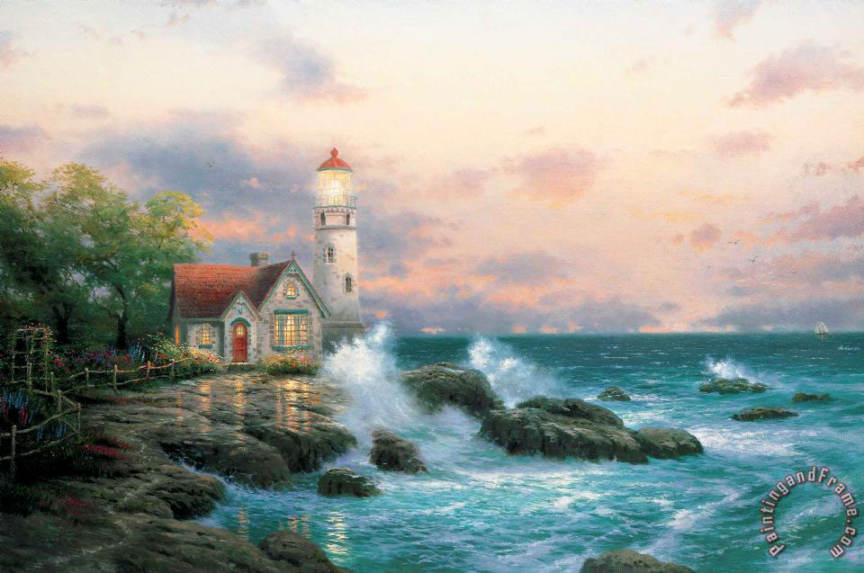 Beacon of Hope painting - Thomas Kinkade Beacon of Hope Art Print