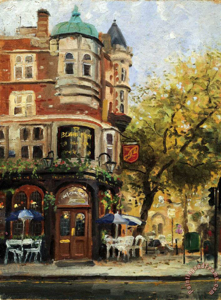 Bloomsbury Cafe painting - Thomas Kinkade Bloomsbury Cafe Art Print