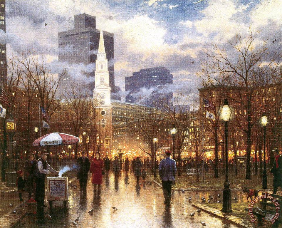 Thomas Kinkade Boston Painting Boston Print For Sale