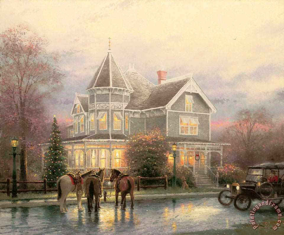 Christmas Memories painting - Thomas Kinkade Christmas Memories Art Print