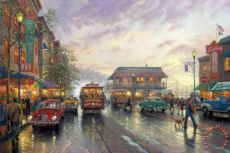 City by The Bay painting - Thomas Kinkade City by The Bay Art Print