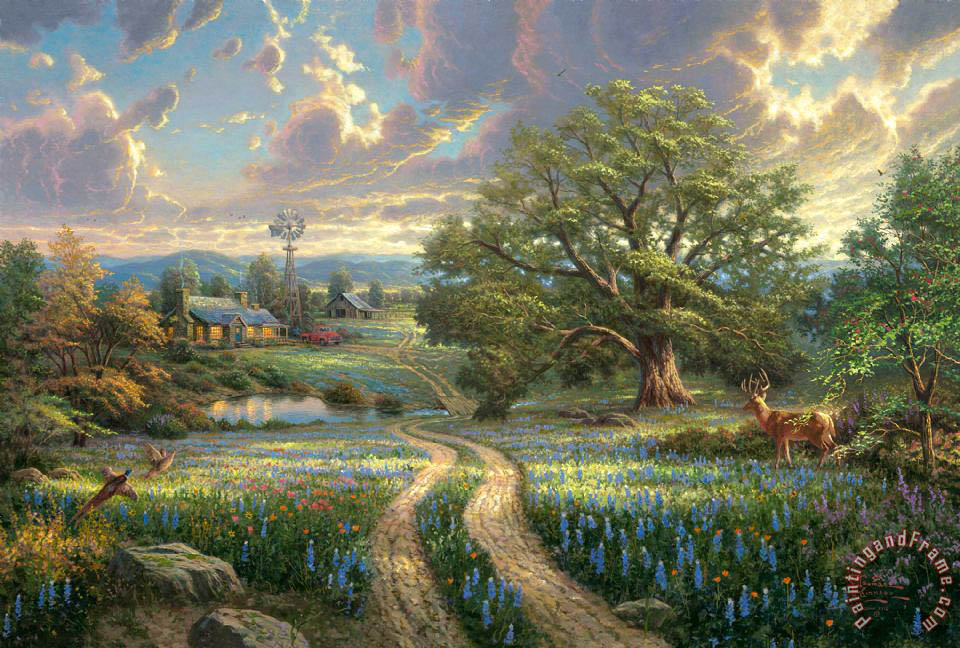 Thomas Kinkade Country Living Art Print