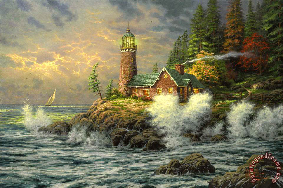 Courage painting - Thomas Kinkade Courage Art Print