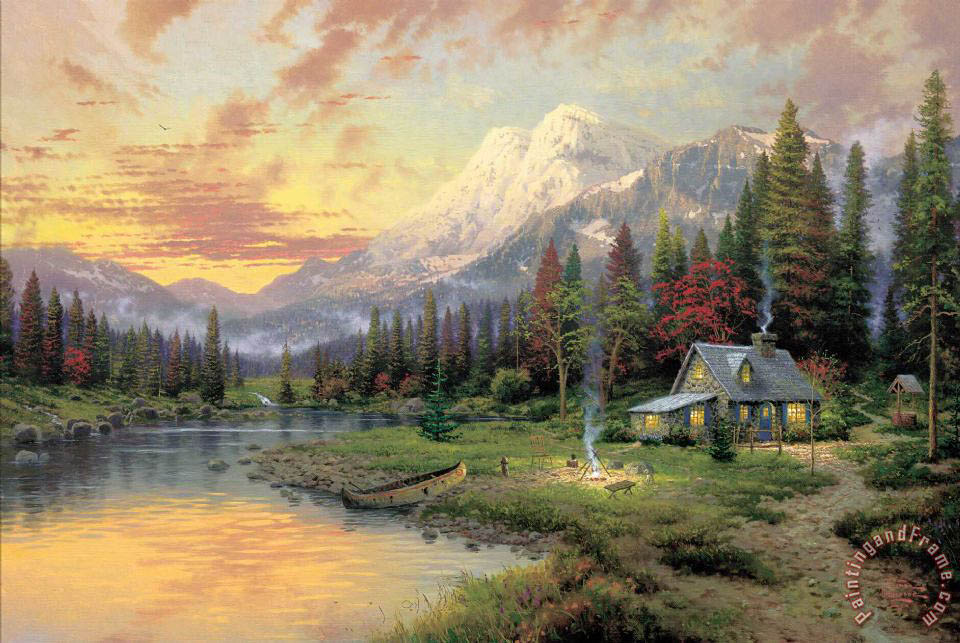 Evening Majesty painting - Thomas Kinkade Evening Majesty Art Print