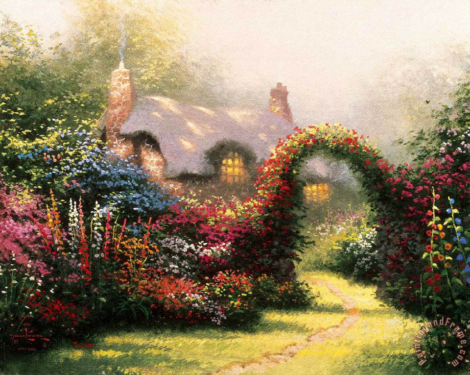 Glory of Morning painting - Thomas Kinkade Glory of Morning Art Print