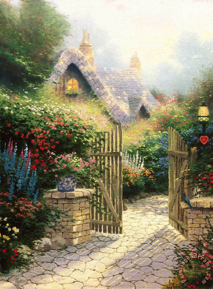 Thomas Kinkade Hidden Cottage Ii Art Painting