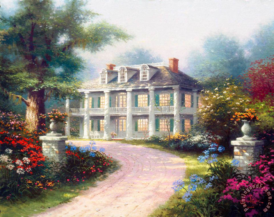 Thomas Kinkade Homestead House Painting Homestead House
