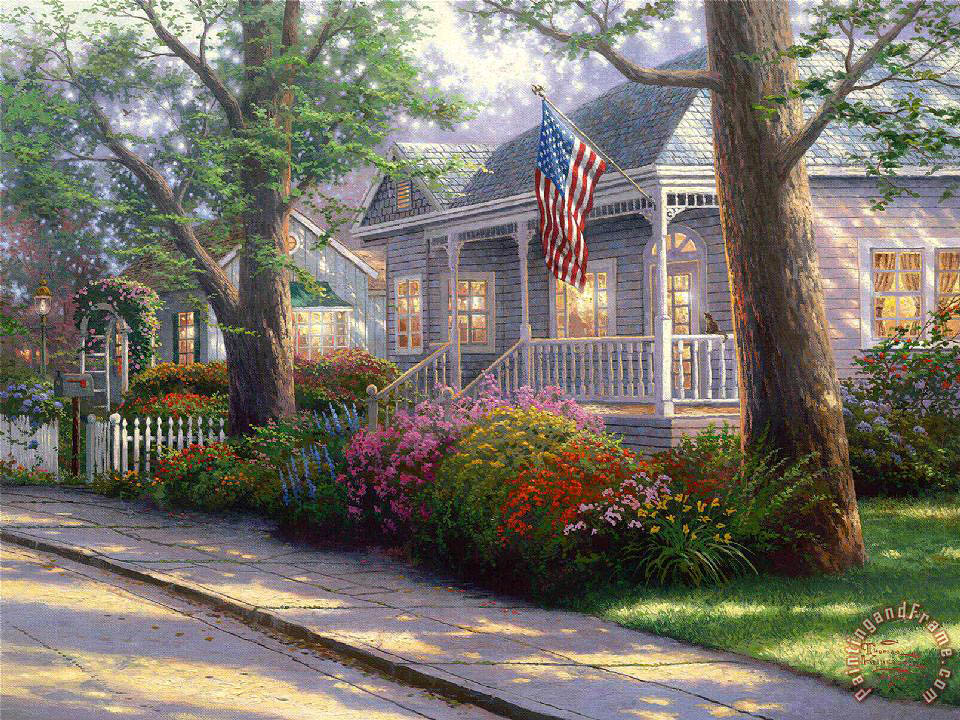 Hometown Pride painting - Thomas Kinkade Hometown Pride Art Print