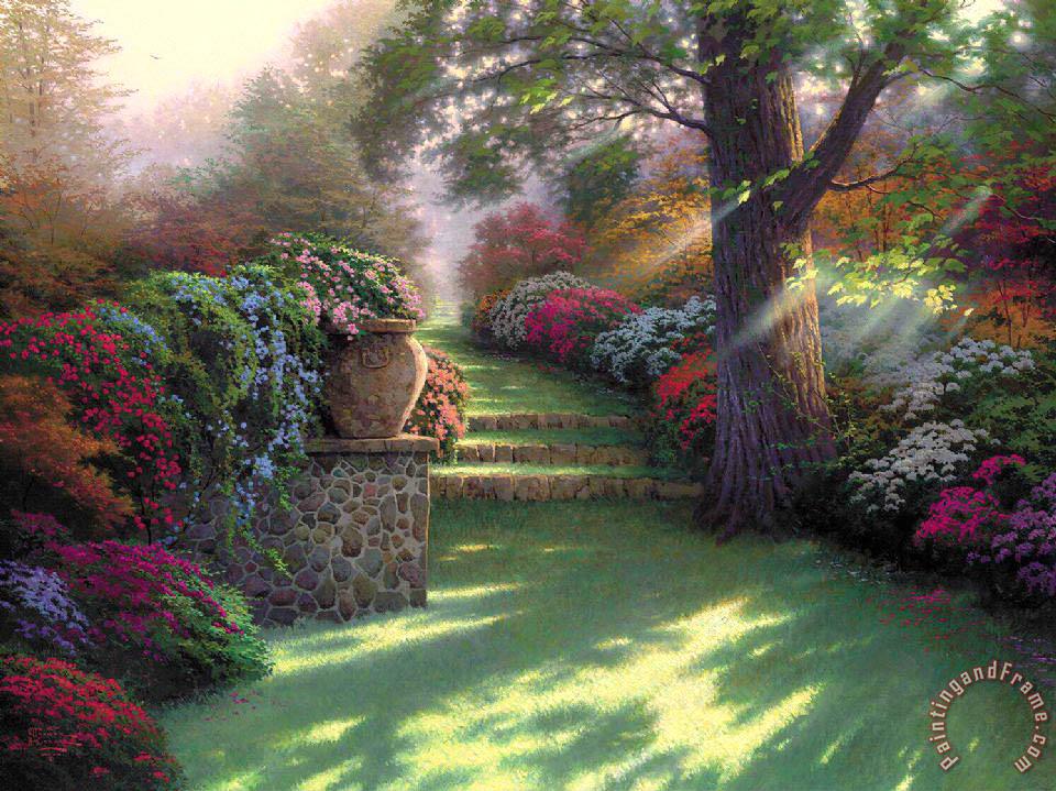 Thomas Kinkade Pathway To Paradise Painting Pathway To