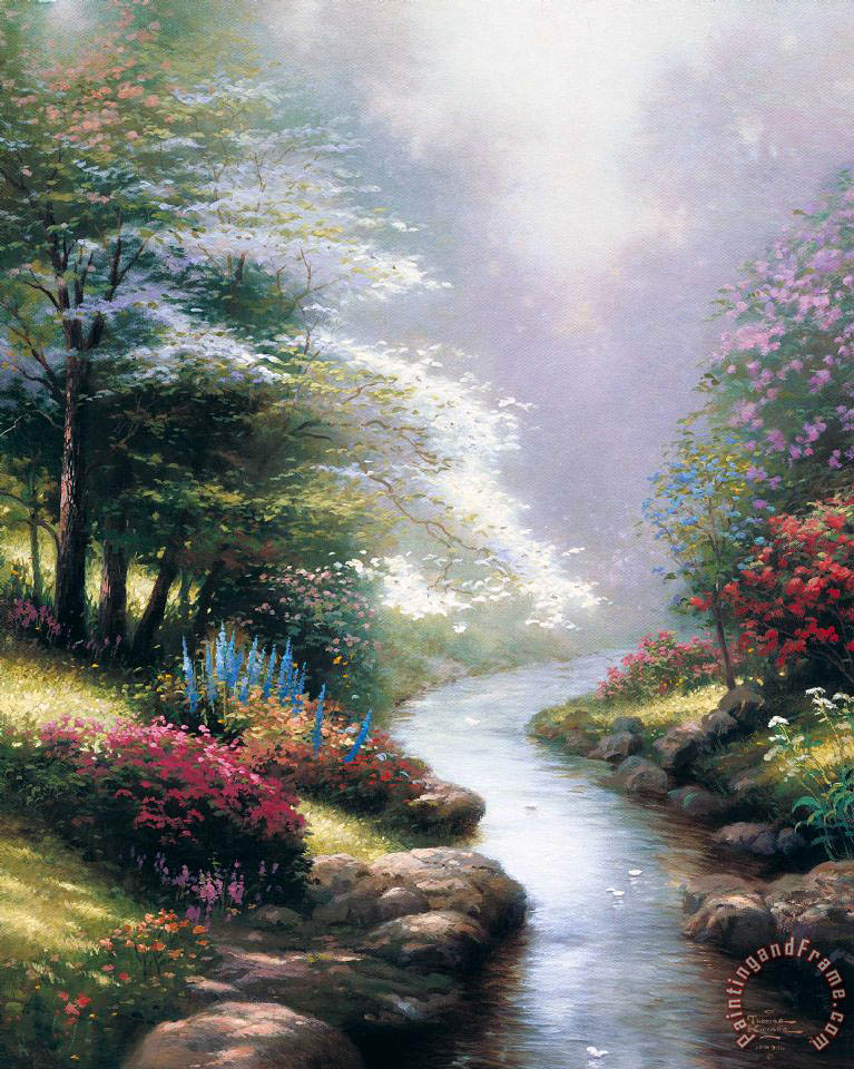 Petals of Hope painting - Thomas Kinkade Petals of Hope Art Print