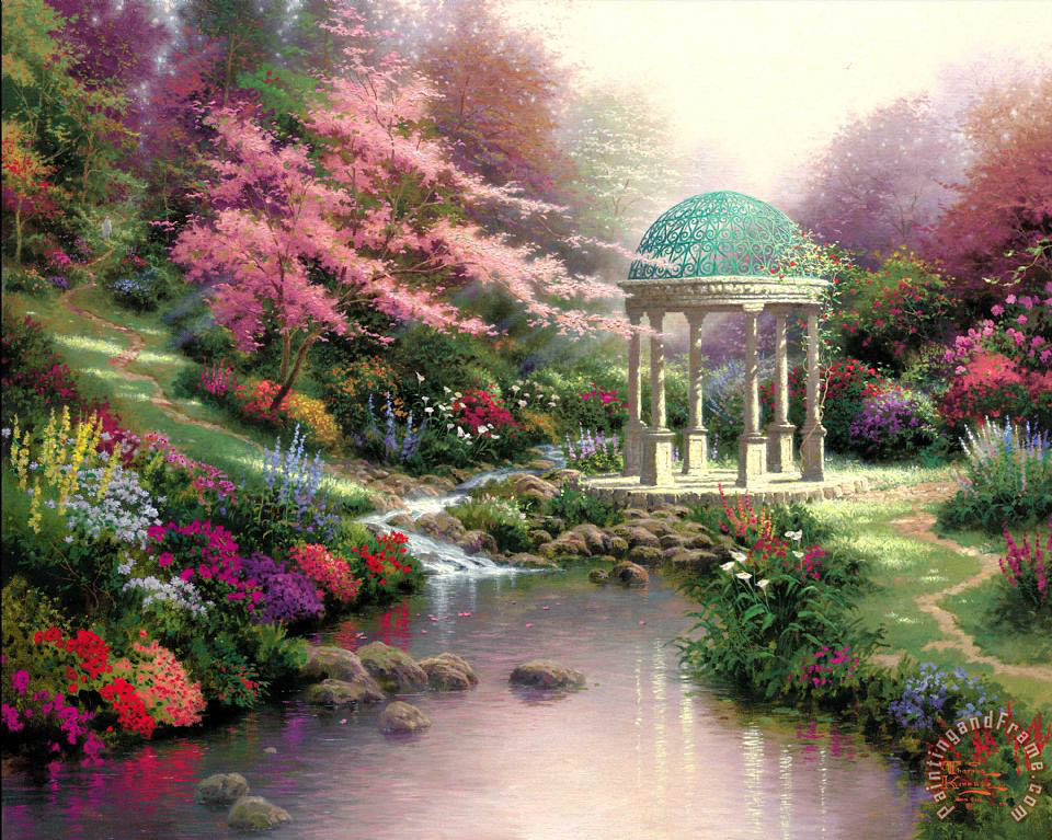 Thomas Kinkade Pools of Serenity Art Print