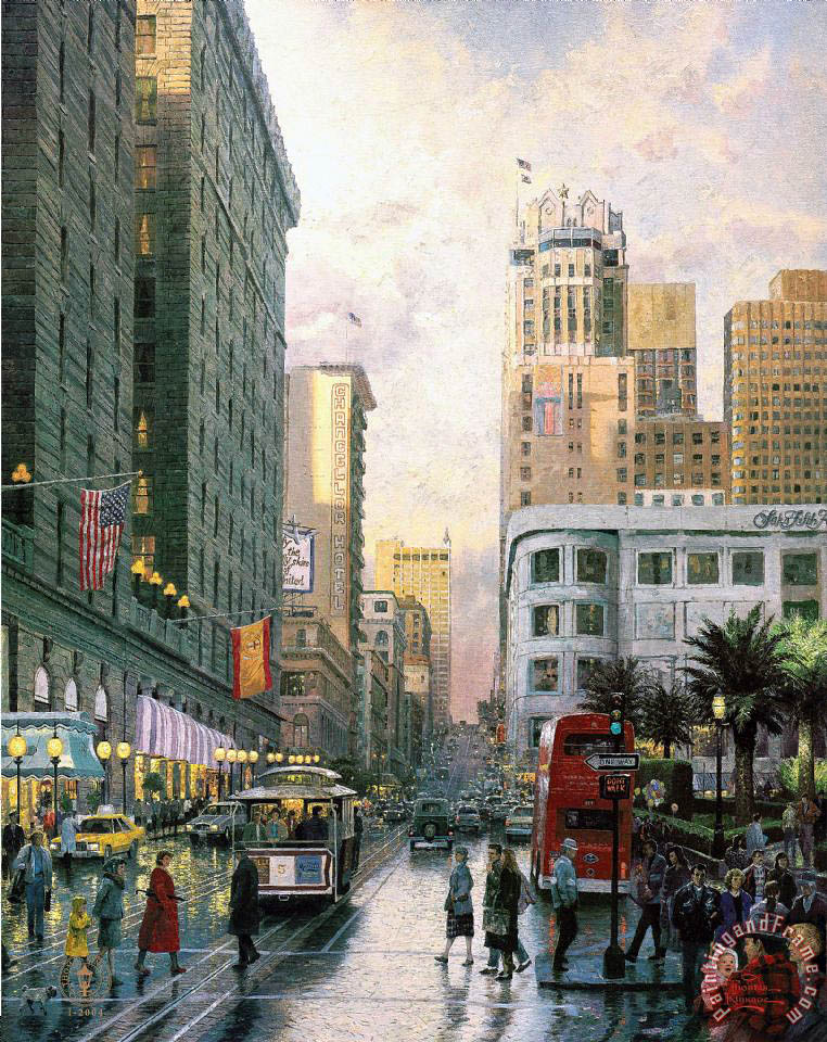 San Francisco, Late Afternoon at Union Square painting - Thomas Kinkade San Francisco, Late Afternoon at Union Square Art Print