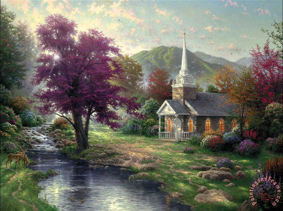 Streams of Living Water painting - Thomas Kinkade Streams of Living Water Art Print