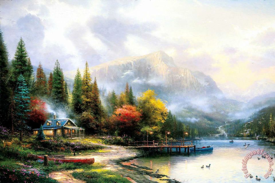 The End of a Perfect Day Iii painting - Thomas Kinkade The End of a Perfect Day Iii Art Print