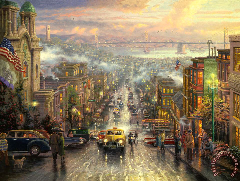 The Heart of San Francisco painting - Thomas Kinkade The Heart of San Francisco Art Print