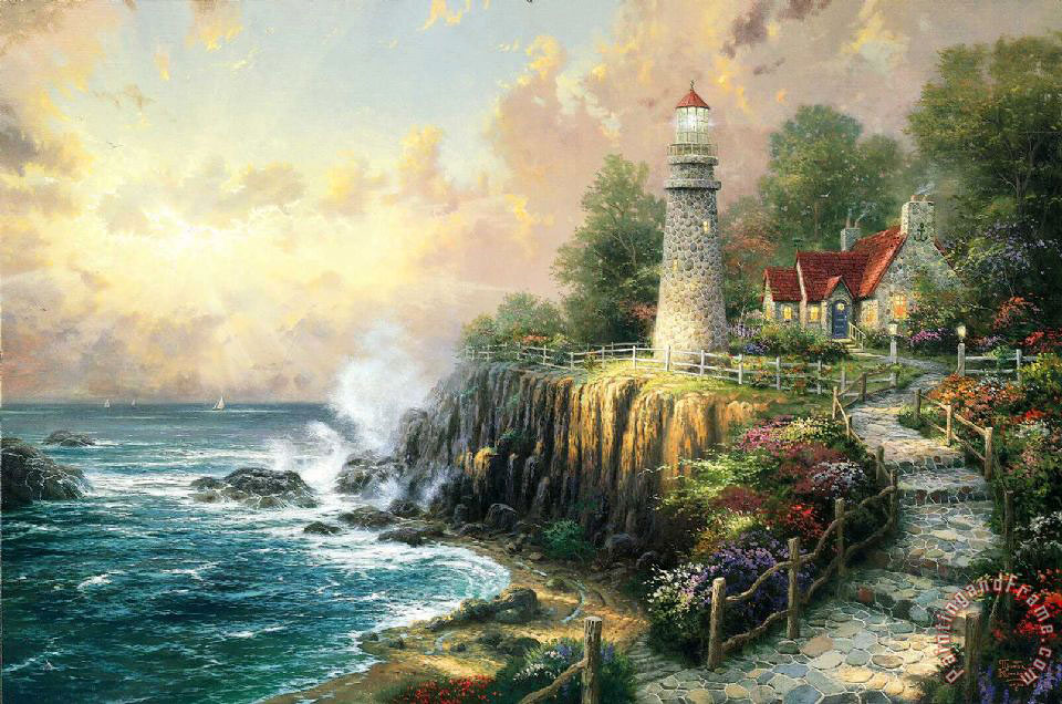 The Light of Peace painting - Thomas Kinkade The Light of Peace Art Print