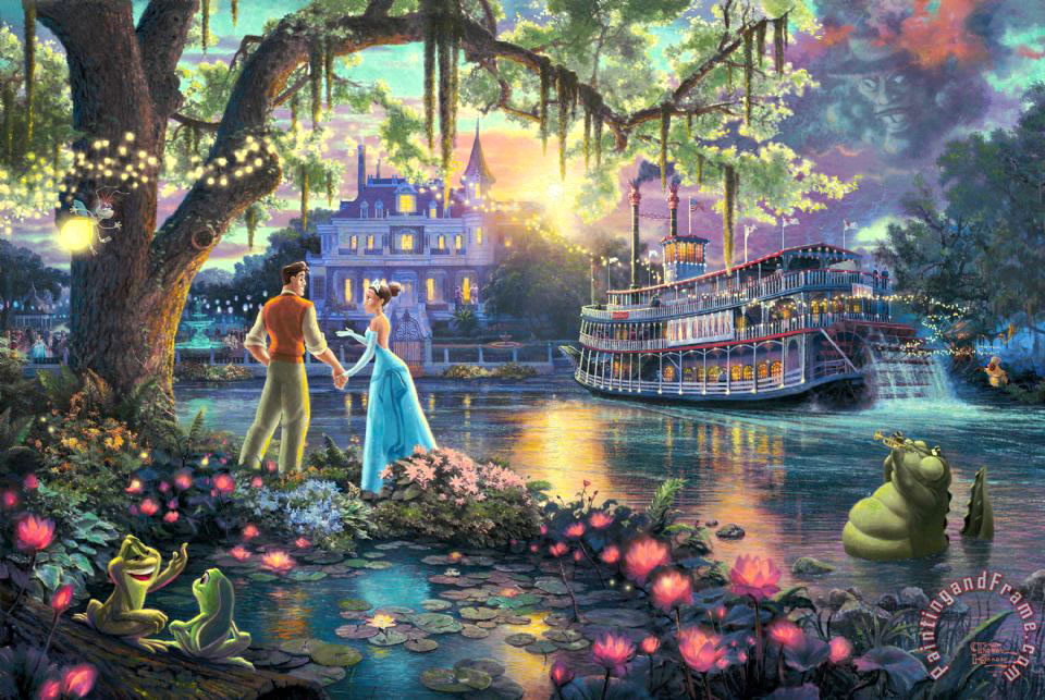 The Princess And The Frog painting - Thomas Kinkade The Princess And The Frog Art Print
