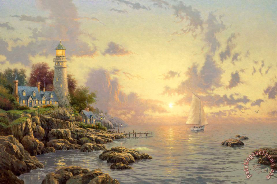 Thomas Kinkade The Sea of Tranquility Art Print