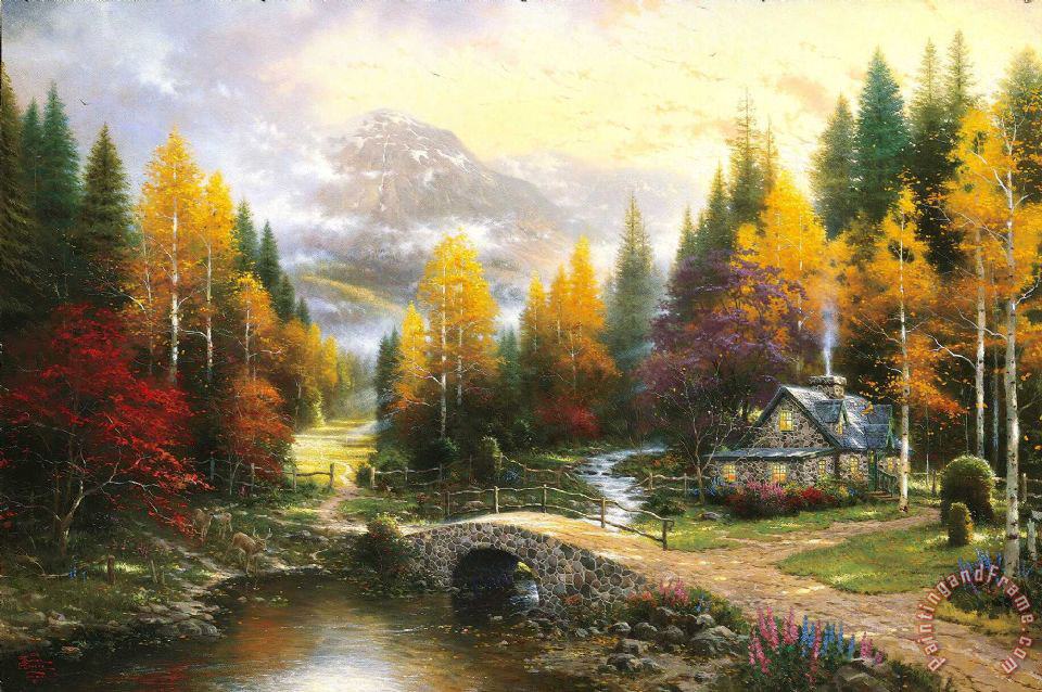 The Valley of Peace painting - Thomas Kinkade The Valley of Peace Art Print