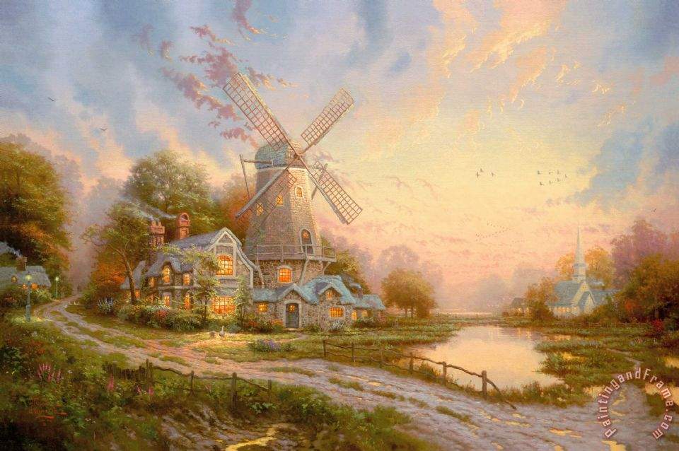 The Wind of The Spirit painting - Thomas Kinkade The Wind of The Spirit Art Print