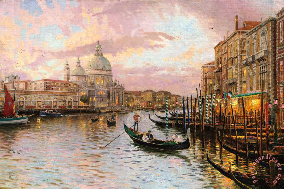 Thomas Kinkade Venice Painting Venice Print For Sale