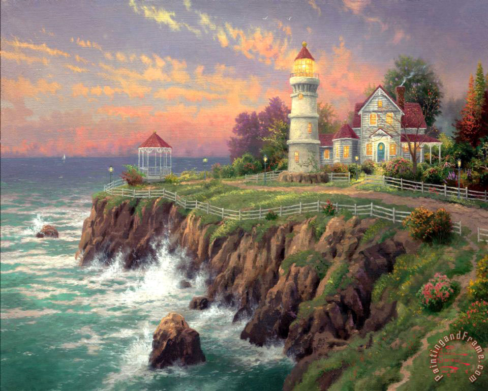 Thomas Kinkade Victorian Light Art Print