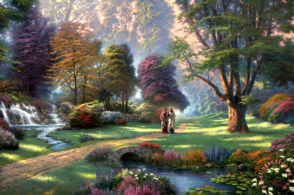 Thomas Kinkade Walk of Faith Art Print